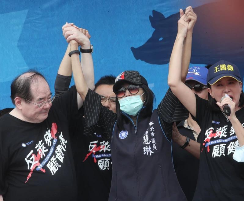 新北市議員唐慧琳去年抱病參加反萊豬遊行。圖/取自唐慧琳臉書