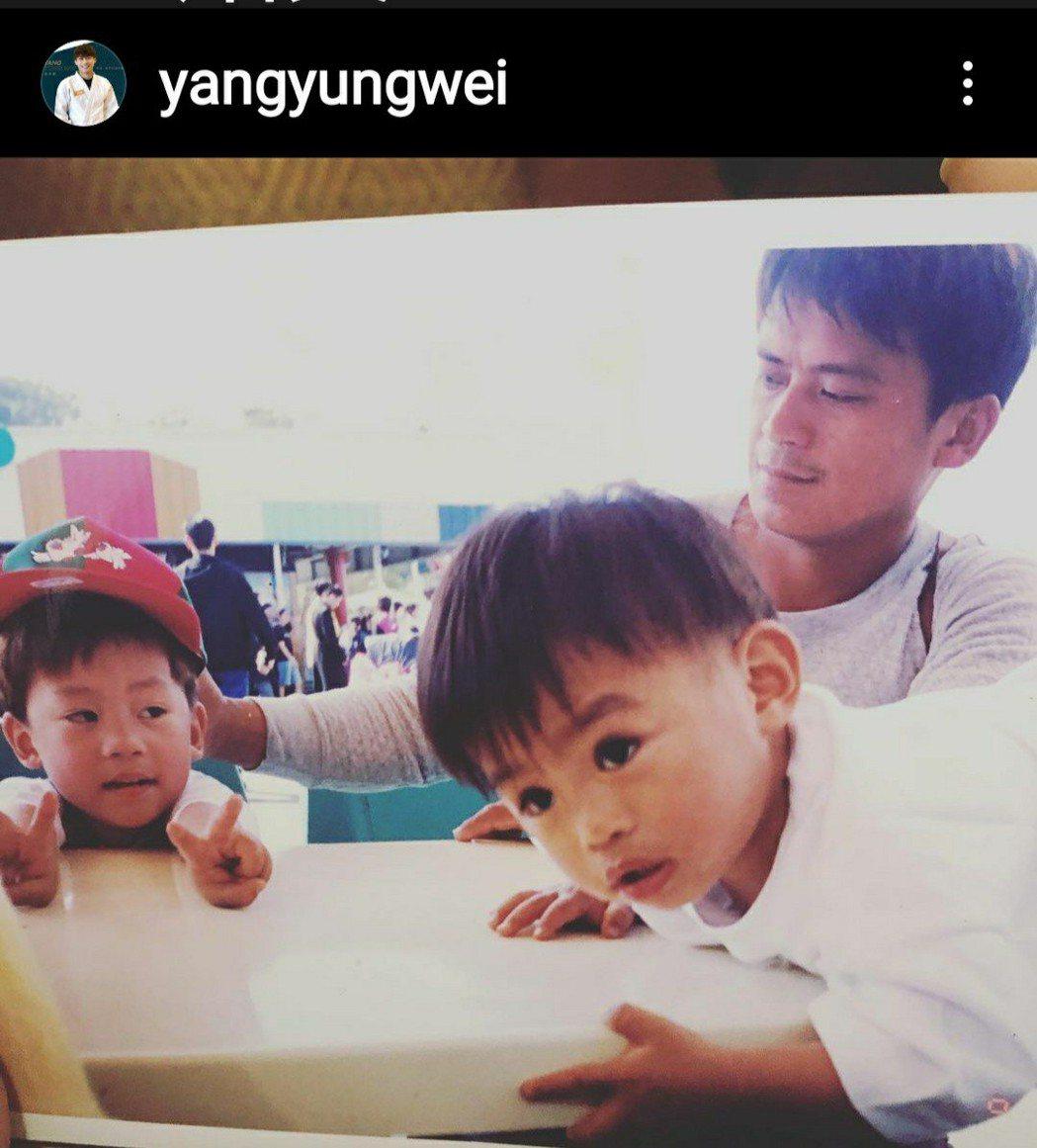 奧運柔道銀牌的楊勇緯成知名人物,他父親也被網友說,年輕時很像藝人柯叔元。圖/取自