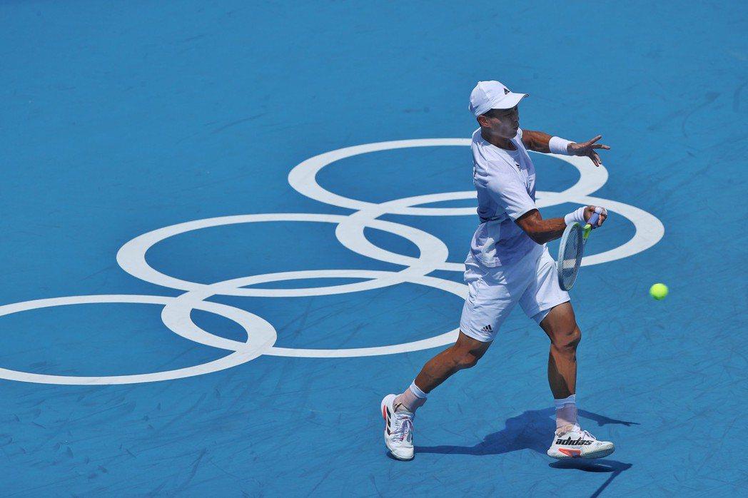 盧彥勳在東奧的第一球場迎接生涯第5度奧運。特派記者余承翰/攝影