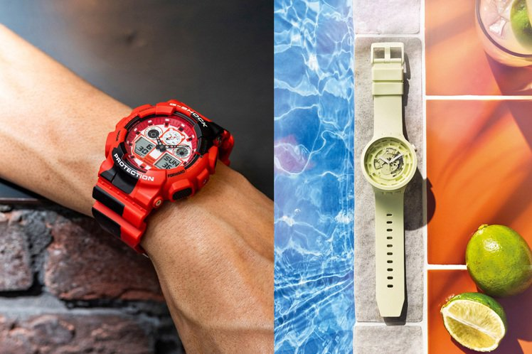 只要一款腕表,就能將整個夏日風情戴在手上!圖/Casio、SWATCH提供