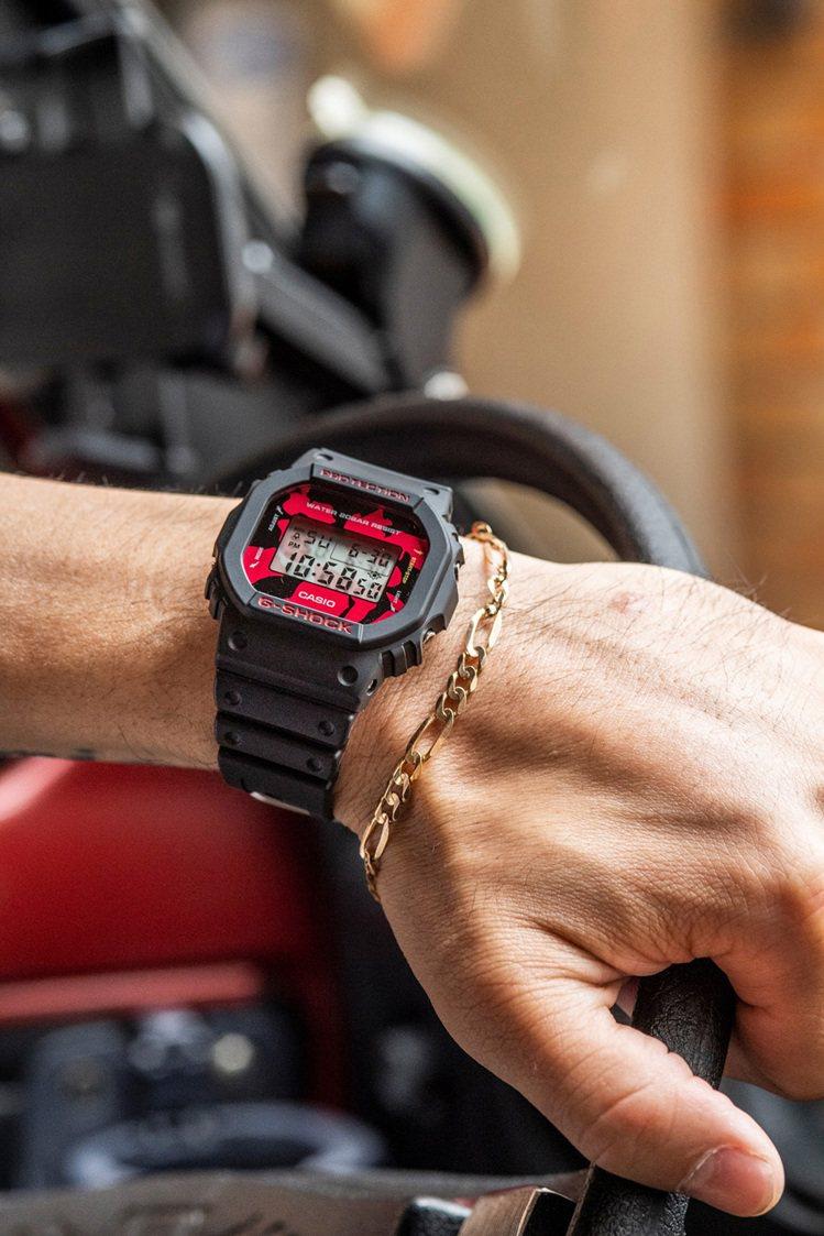 G-SHOCK DW-5600JK-1腕表3,900元。圖/Casio提供