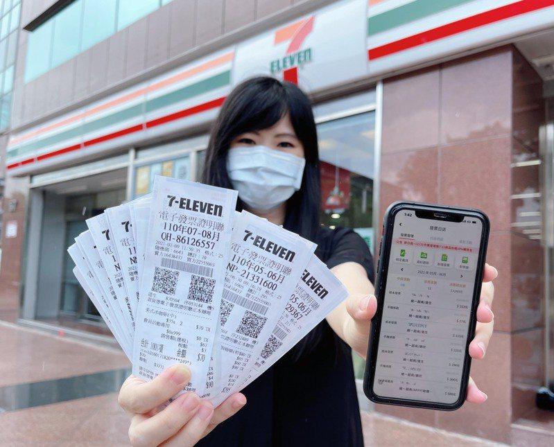 財政部今(25)日公布最新一期7-8月統一發票中獎號碼,統一超(2912)共有三位消費者獲得千萬特別獎。示意圖/7-ELEVEN提供