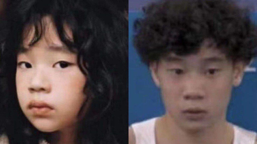 許老三(左)和體操選手洪源禧意外撞臉。圖/摘自臉書