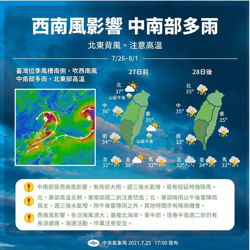 一張圖看天氣。圖/取自報天氣臉書粉絲團