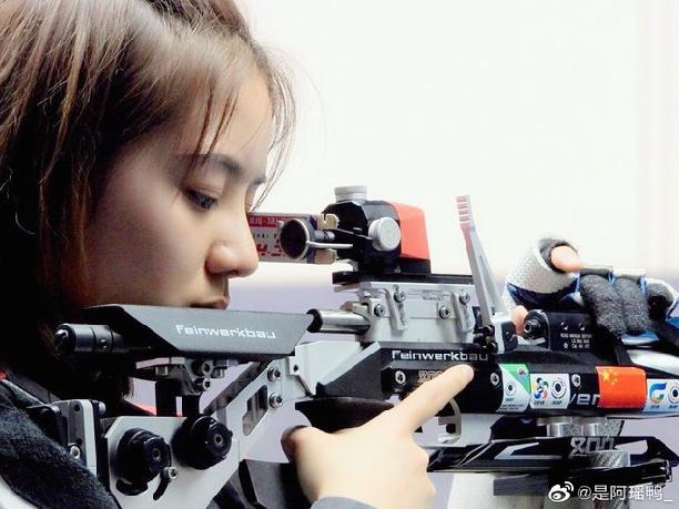 東京奧運射擊項目女子10米氣步槍資格賽,王璐瑤無緣晉身決賽。(新浪微博照片)