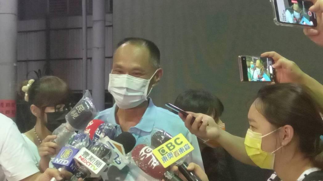 鄭怡靜父親鄭博文在女兒敗給日本隊說,盡力就好,力拚銅牌。記者黃宣翰/攝影