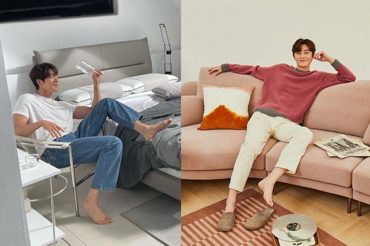 兩大韓國男神金宇彬(左)、朴敘俊(右)近期不約而同的曝光居家造型,讓女粉絲們都暴...
