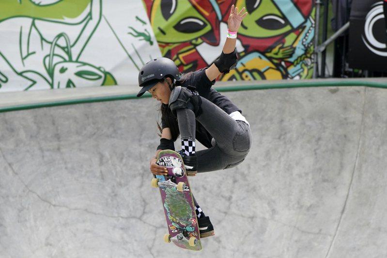日本滑板小將開心那是本屆奧運年紀第2小的選手,最大目標是為日本奪下獎牌。 美聯社