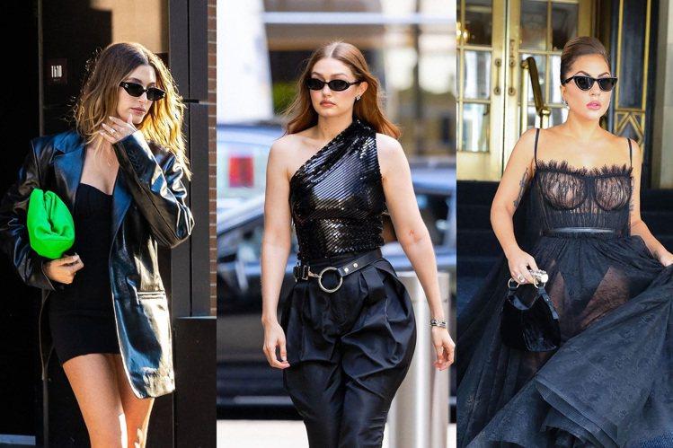 夏日艷陽高掛,最不可或缺的配件就是太陽眼鏡,Lady Gaga(右)、超模Gig...