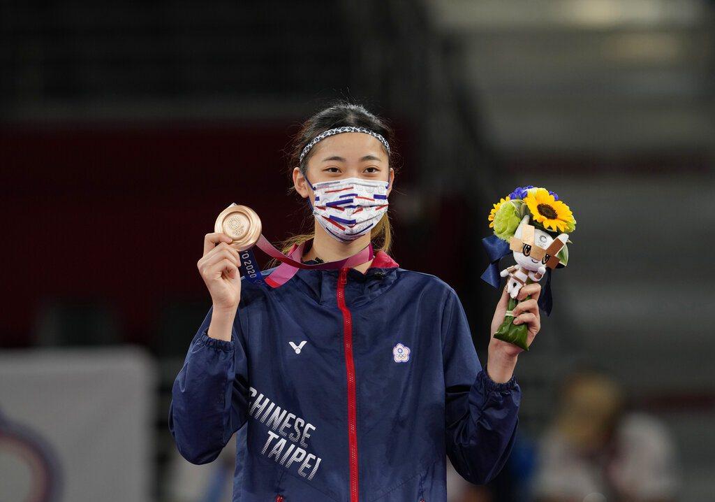 台灣19歲跆拳道女將羅嘉翎。 美聯社