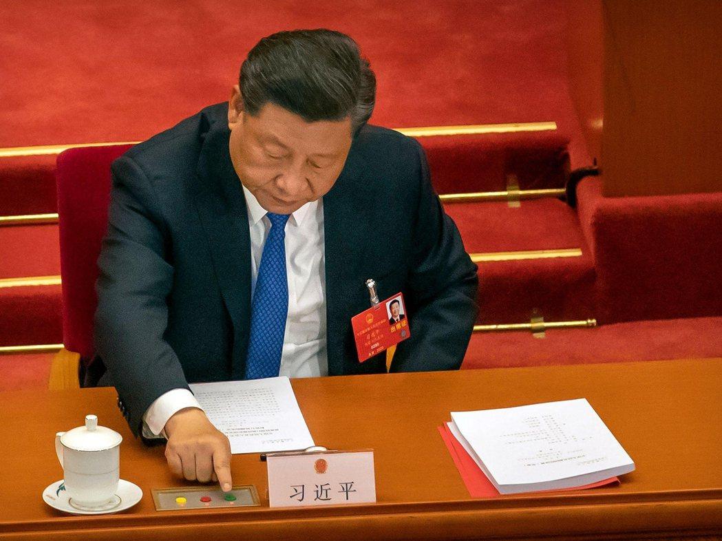 2020年5月28日,通過香港版國安法的習近平。 圖/美聯社