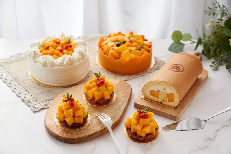 台北福華大飯店點心坊夏季限定的芒果系列甜點。 台北福華/提供