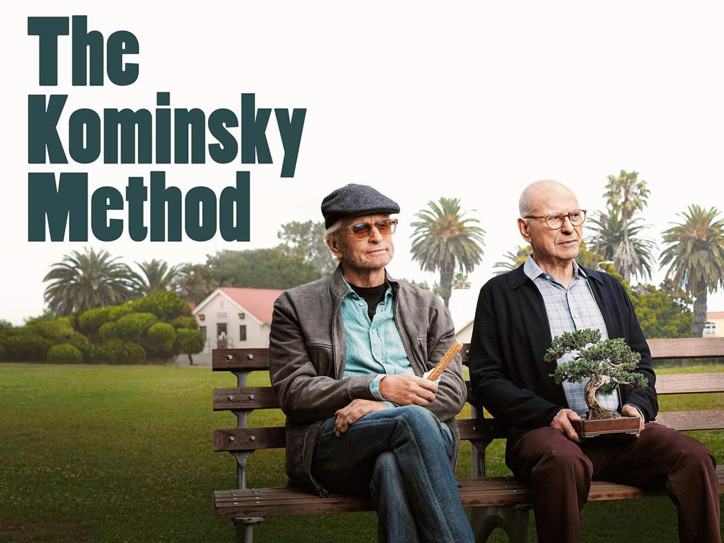 【好萊塢教父】The Kominsky Method 劇集宣傳照。/左為山迪,右為諾曼