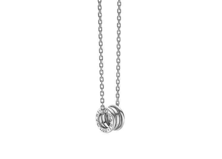 BVLGARI B.zero1系列白K金項鍊,約15萬2,000元。圖/寶格麗提...