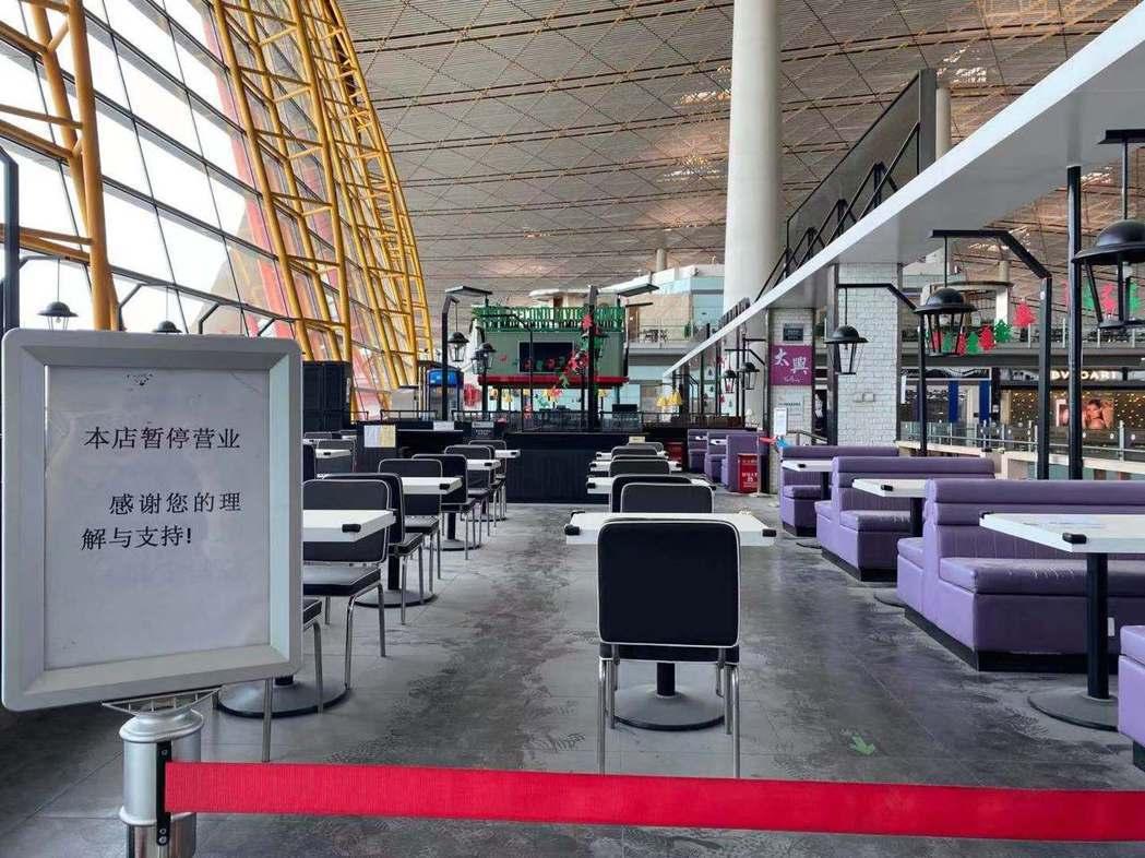 北京機場一隅。記者呂佳蓉/攝影