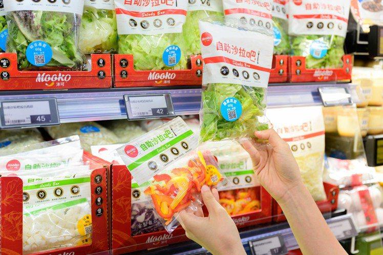 省時沙拉吧限店推出,即開即食,在家輕鬆享用。圖/全聯福利中心提供