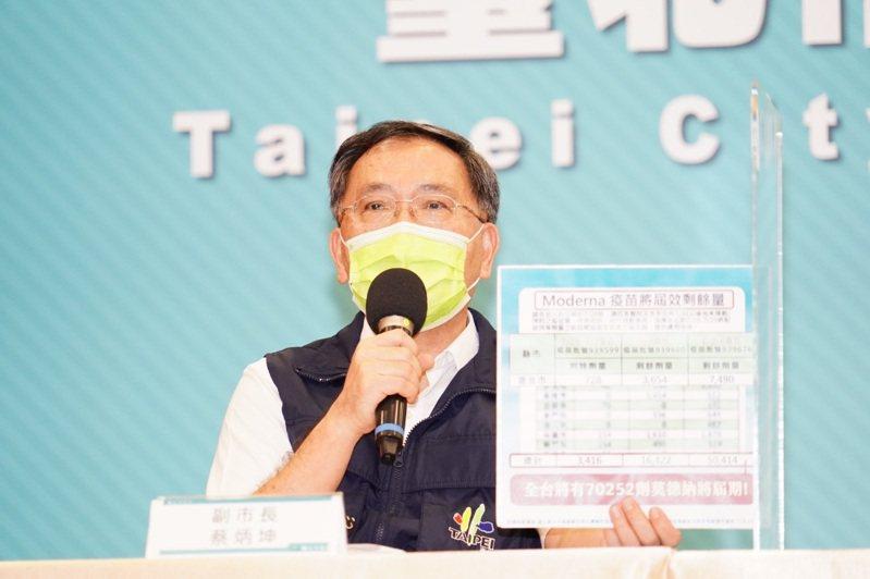 台北市副市長蔡炳坤。圖/北市府提供