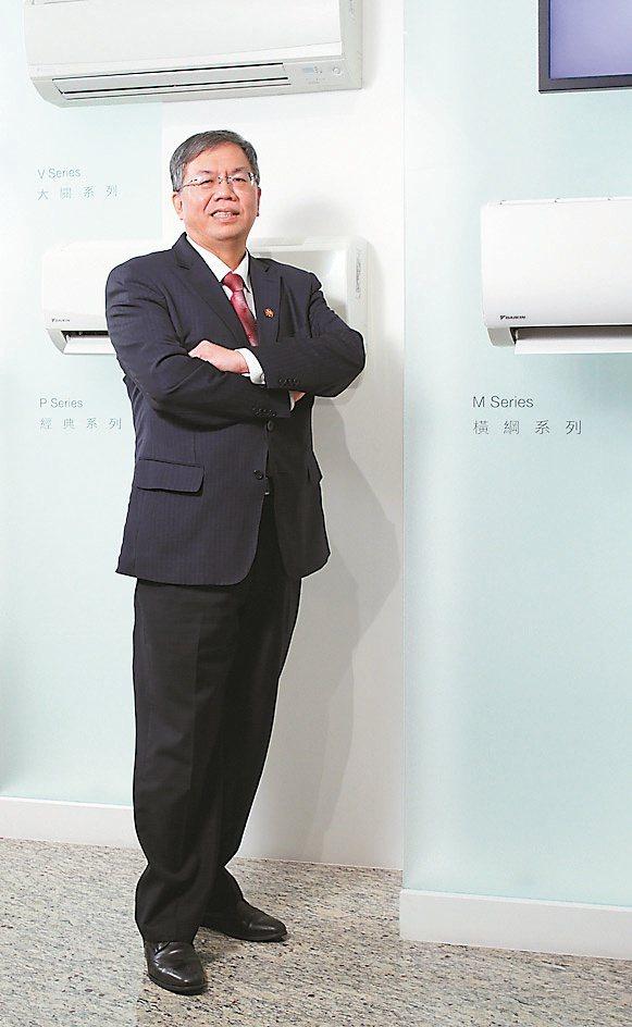 和泰大金空調總經理林鴻志表示,符合防疫需求的新機,助力銷售衝高。和泰大金/提供