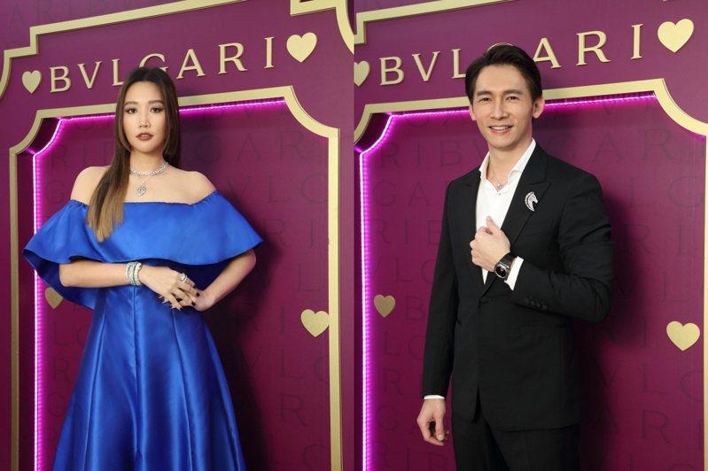 A-LIN與溫昇豪擔任寶格麗線上互動式音樂同樂會嘉賓,配戴寶格麗珠寶。圖/寶格麗提供