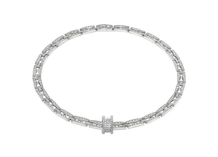 BVLGARI B.zero1 Rock Chain系列白K金鑽石頸鍊,約169...
