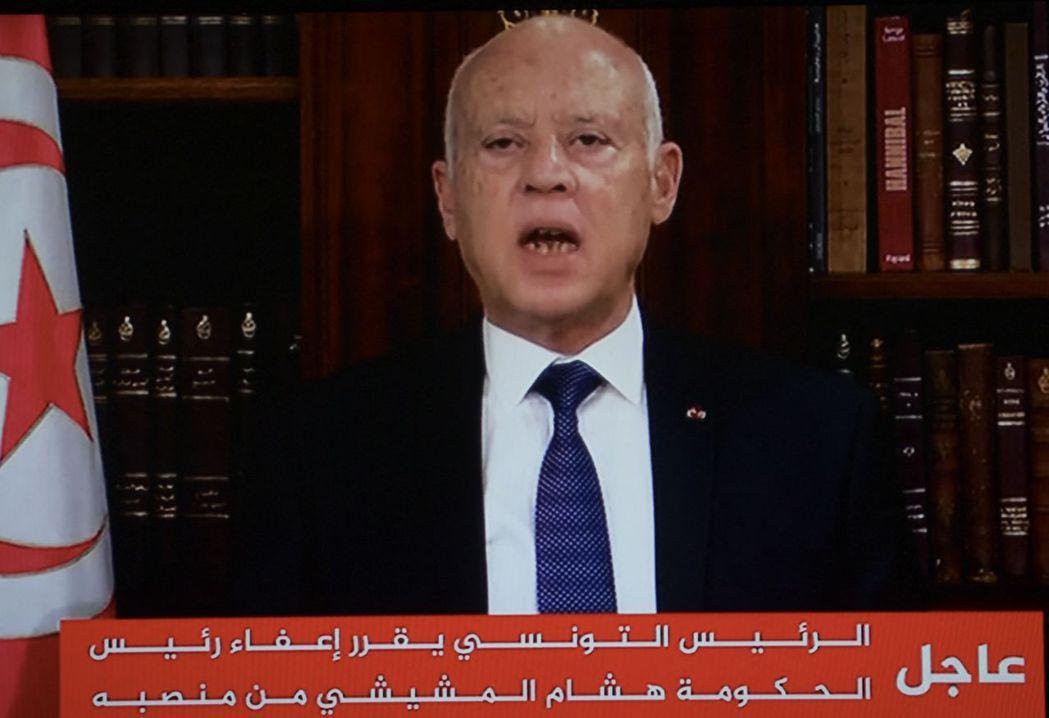 突尼西亞總統薩伊德。法新社
