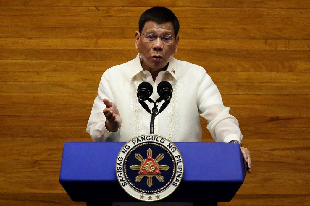 菲國總統杜特蒂26日發表任內最後一次國情咨文演說。路透