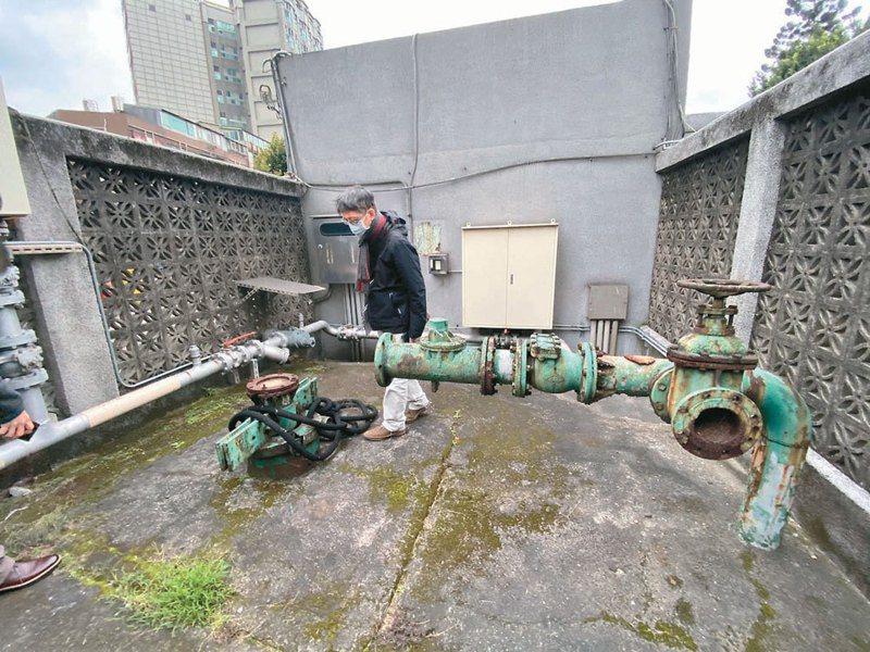 北市文資會議昨審查「台北啤酒工場五口地下水利建造物」的文資價值,經文資委員投票,新增第4、5號水井為歷史建築,圖為5號地下水利建造物。圖/北市文化局提供