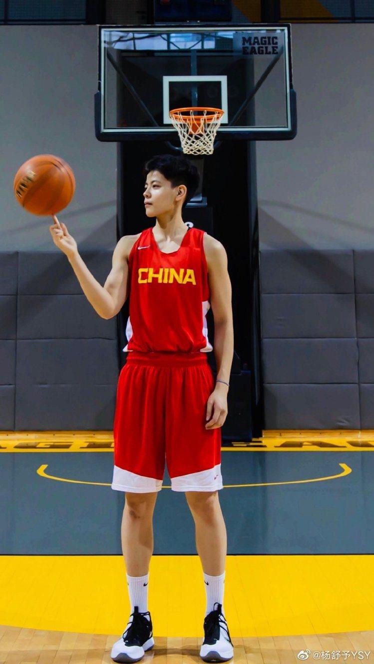 楊舒予是大陸的奧運3對3女籃選手。圖/摘自微博