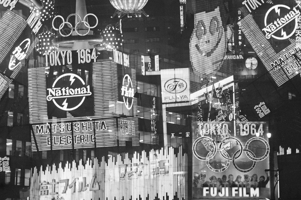 圖為各種1964年東京奧運廣告宣傳看板。 圖/美聯社