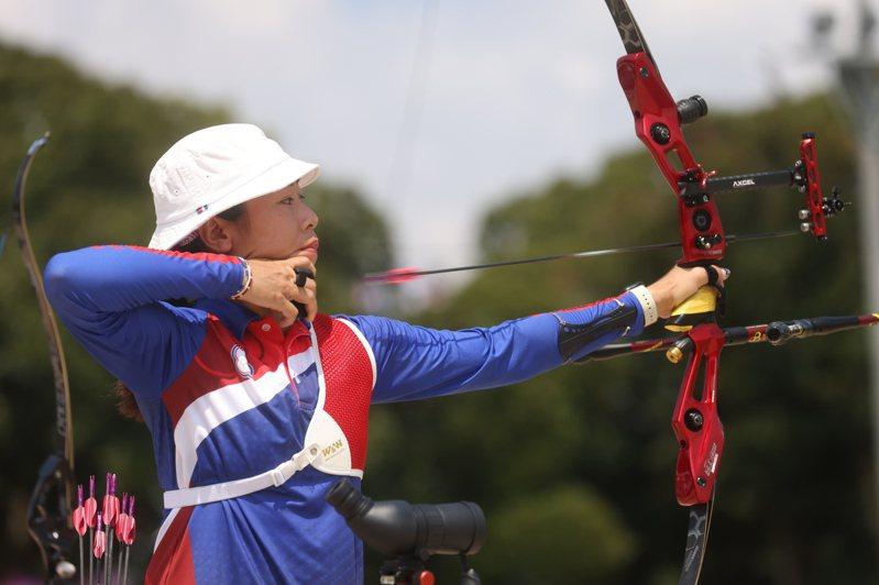 中華隊女將譚雅婷在64強止步,終結個人奧運之旅。  中央社