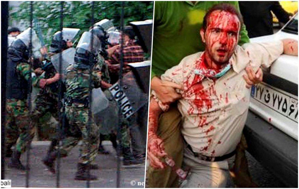 2009年伊朗綠色革命的鎮壓。 圖/路透社