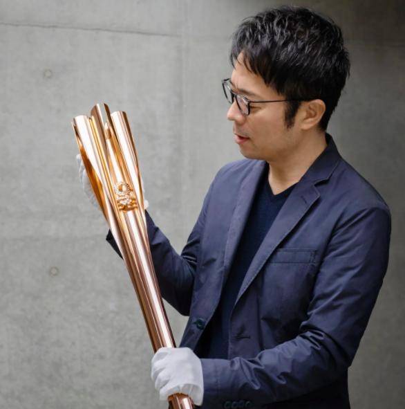 奧運聖火火炬。圖/翻攝自2020 tokyo olympics推特