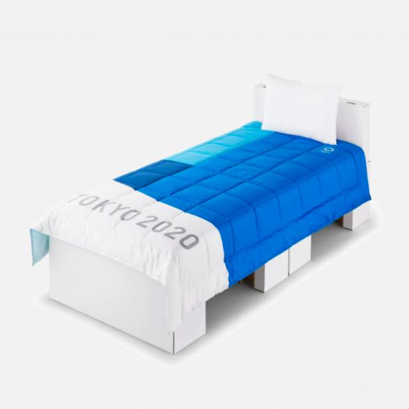 選手村的床與床墊。圖/翻攝自2020 tokyo olympics推特