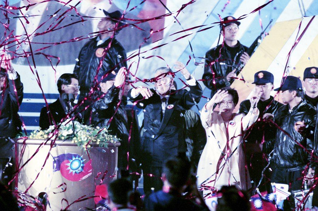 1996年3月23日,李登輝當選首任民選總統。 圖/聯合報系資料照