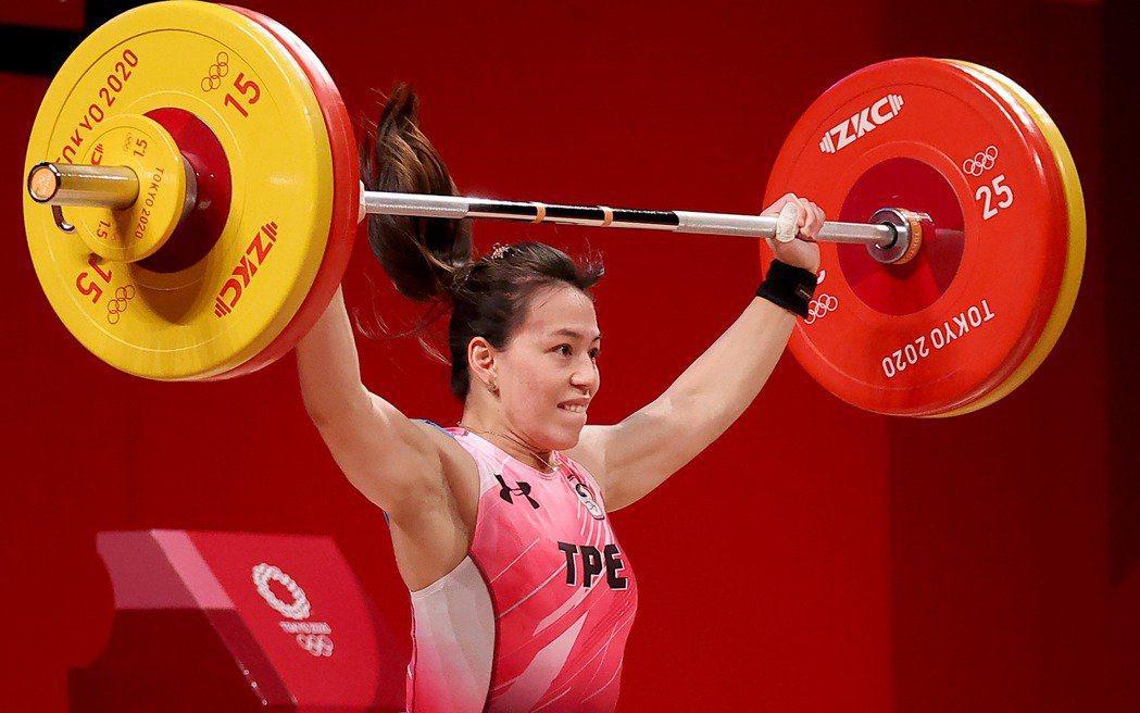 郭婞淳東京奧運舉重女子59公斤級賽事現場照。 圖/特派記者余承翰東京攝影