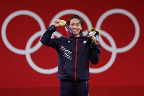 郭婞淳毫無懸念摘下東京奧運女子59公斤級金牌。圖/特派記者余承翰東京攝影