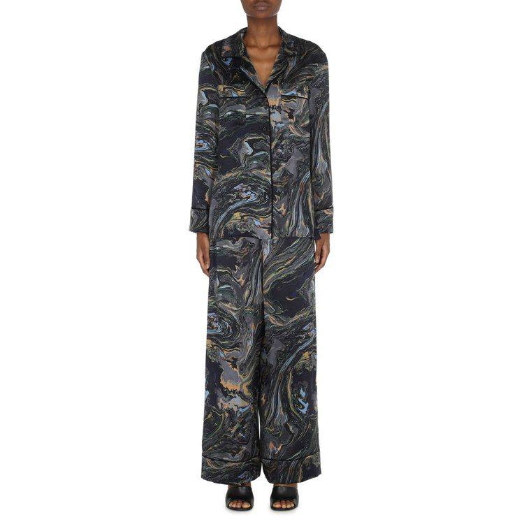 FENDI大理石波紋睡衣組,價格店洽。圖/FENDI提供