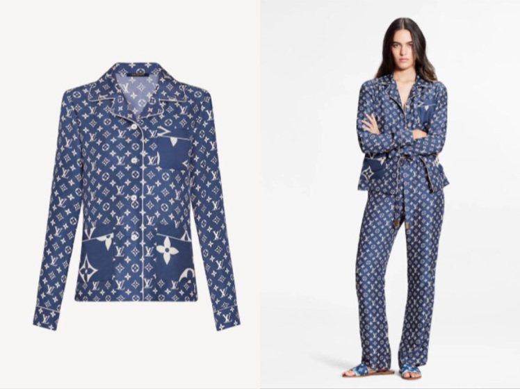 LV Escale衣NT67,000元、睡褲6萬元。圖/取自LV官網