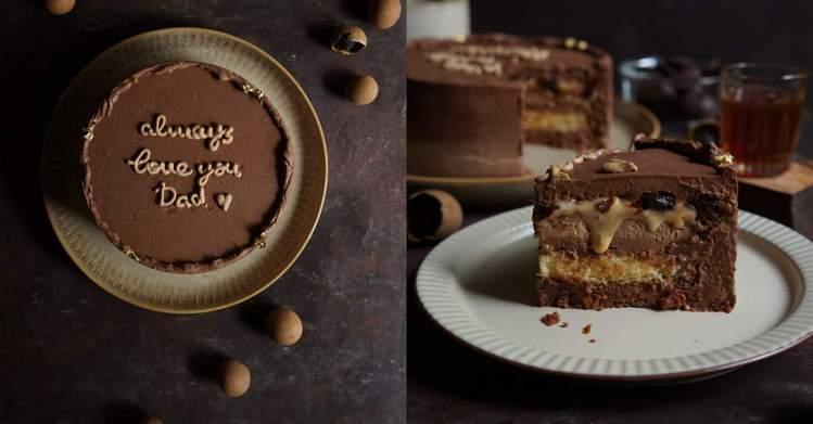 圖/儂儂提供 柴燒龍眼巧克力慕斯 648元 / Source:進益糕餅