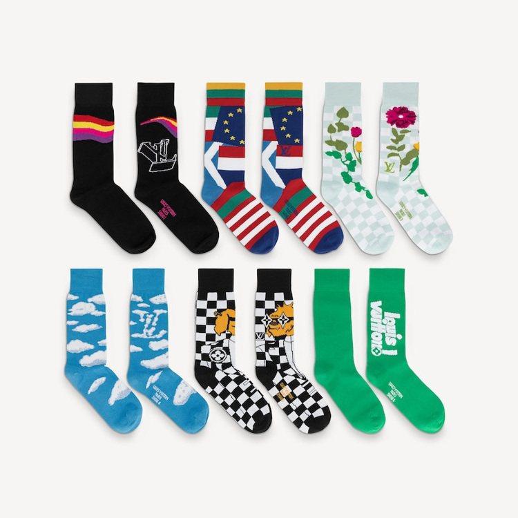 LV Archives襪子套裝共有6雙襪子。圖/取自LV官網