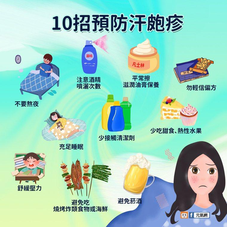 10招預防汗皰疹。圖/元氣網