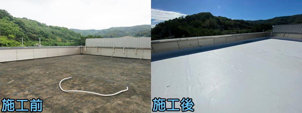 阿布科技實際施作的屋頂,有效解決漏水問題。