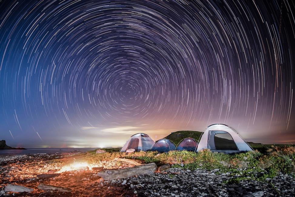 澎湖忘憂島兩天一夜露營。KKday/提供