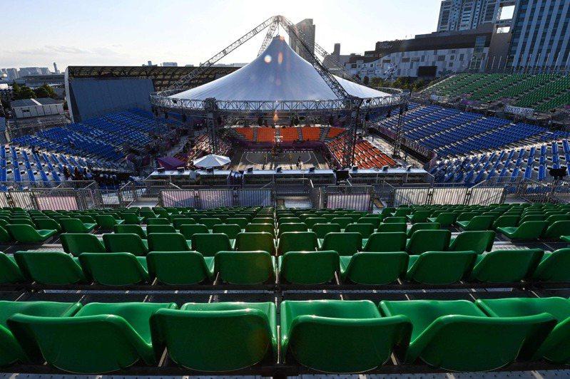 奧運比賽無觀眾。 法新社