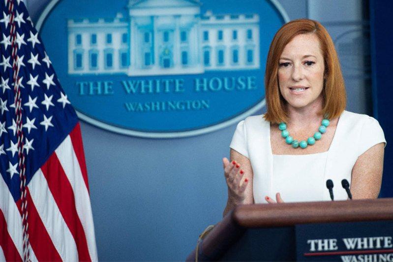 美國白宮發言人莎奇。法新社