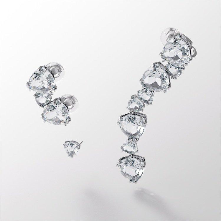 Collection One系列Millenia水晶耳環,價格店洽。圖/施華洛世...