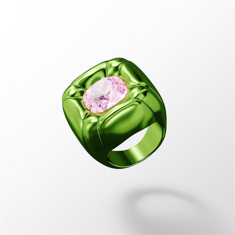 Collection One系列Dulcis雙色水晶戒指,價格店洽。圖/施華洛世...