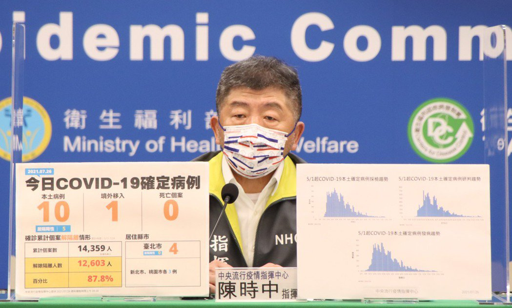 指揮官陳時中。圖/中央流行疫情指揮中心提供