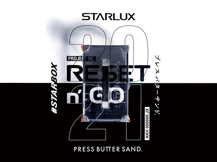 星宇箱STARBOX PROJECT RE.「時空灰」款,以透明象徵澄淨無瑕的新...