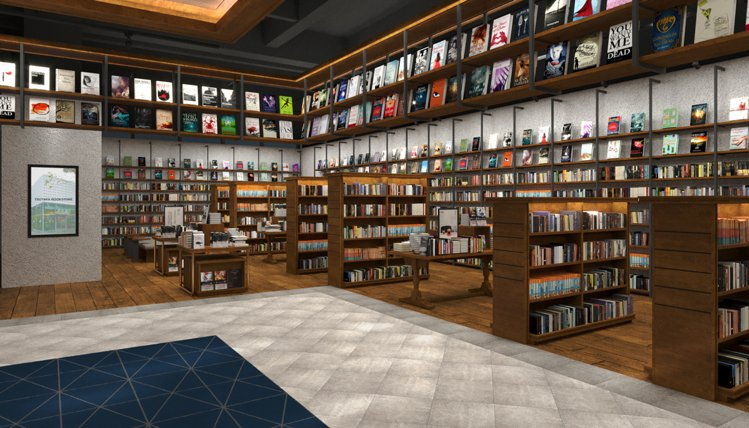 TSUTAYA BOOKSTORE松山店書店區。圖/潤泰集團提供